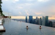 Отель Marina Bay Sands – бассейн на крыше в Сингапуре.